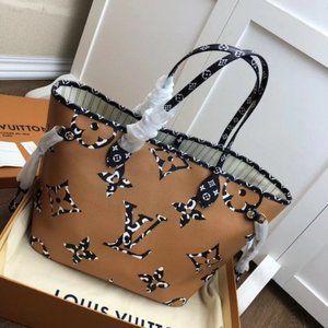 🎀LV 💖 fashion leopard shoulder bag